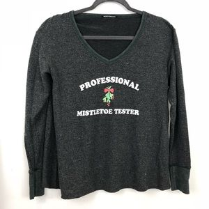 Wildfox Professional Mistletoe Tester Sweatshirt